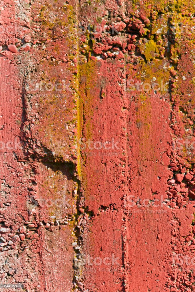 Red Concrete Wall stock photo
