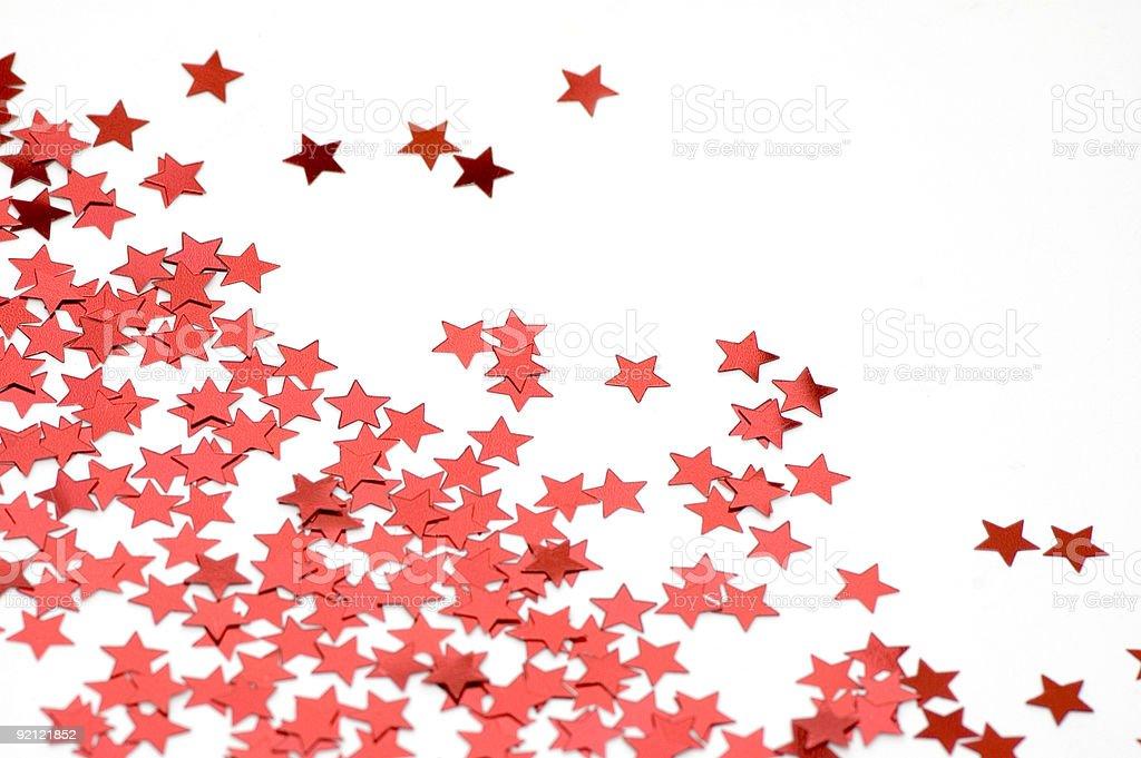 Red confetti stock photo