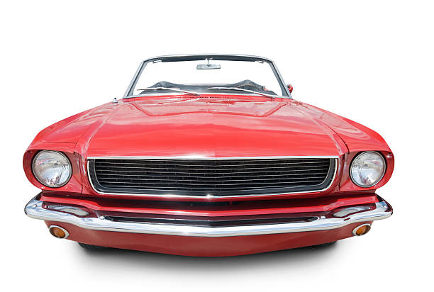 Mustang Convertible 1966  vehicle hood stock pictures, royalty-free photos & images