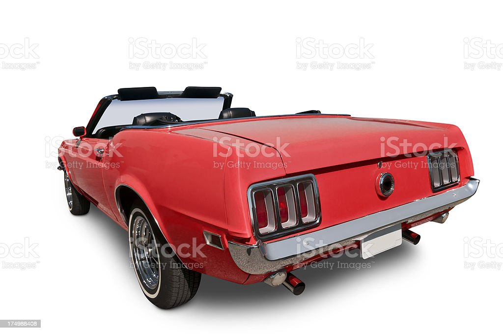 Red Convertible from 1970 stock photo
