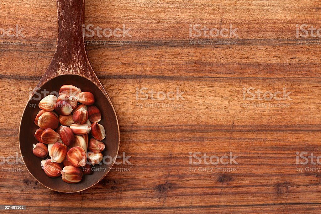 Rosso corn kernel foto stock royalty-free