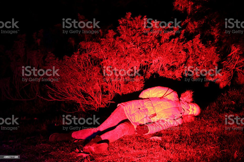 red corpse stock photo