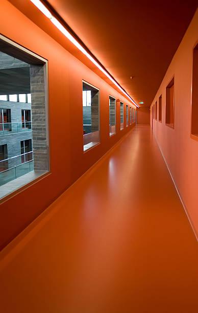red corridor stock photo