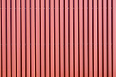 Red corrugated galvanised iron cladding