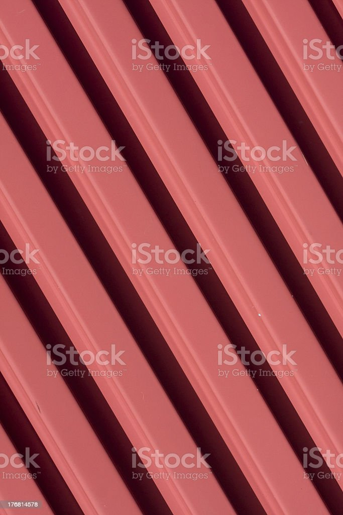 Red corrugated metal stock photo