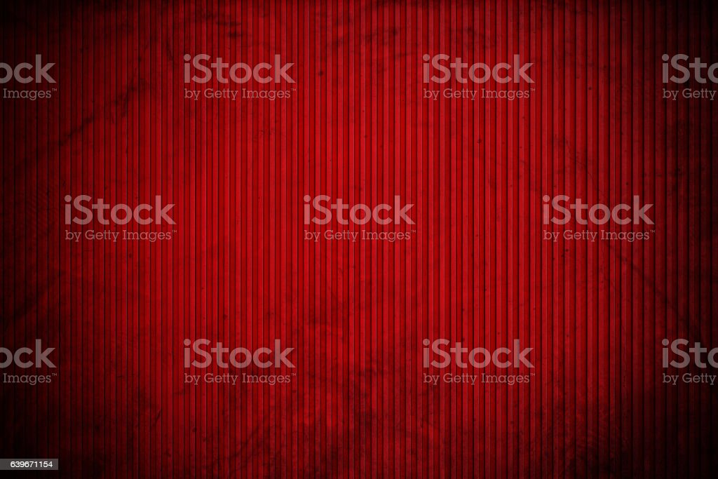Red corrugated metal texture, with vignette border stock photo