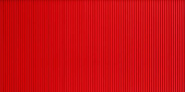 red corrugated metal wall texture - alu zaun stock-fotos und bilder