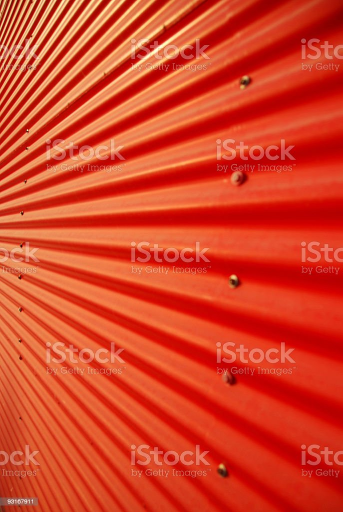 Red Corrugated Steel stock photo