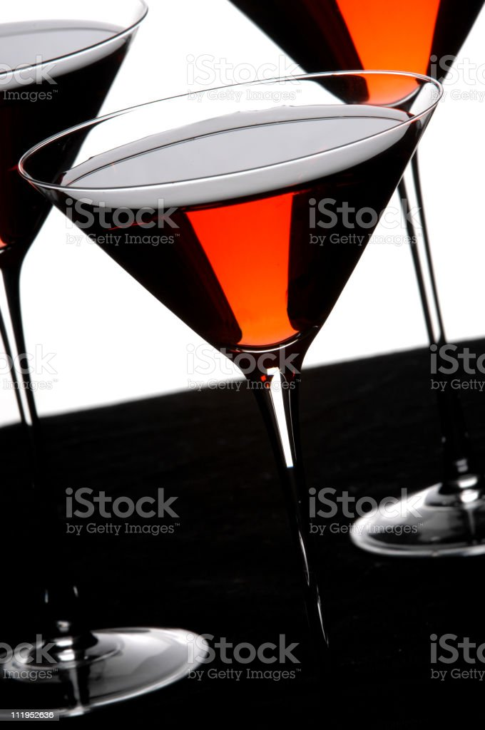 Red Cosmopolitan Martinis royalty-free stock photo