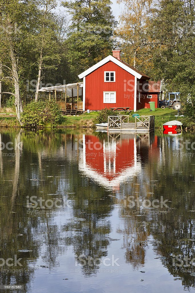 Red cottage royalty-free stock photo