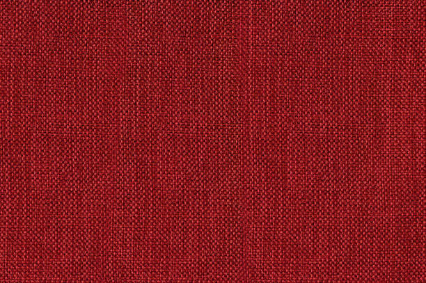 Red cotton linen fabric seamless texture Close up shot of colored sofa fabric texture red cloth stock pictures, royalty-free photos & images