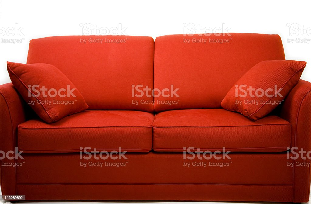 red couch love seat royalty-free stock photo
