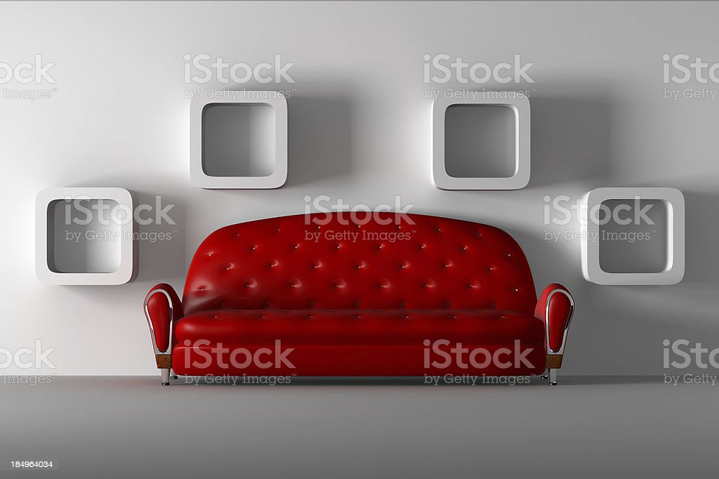 Red Couch royalty-free stock photo