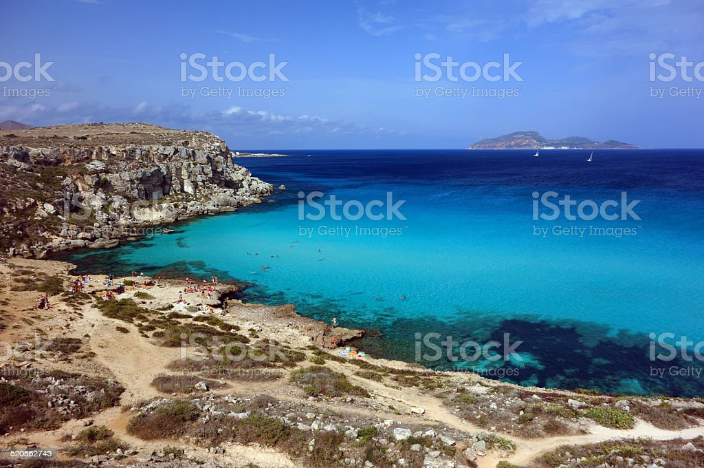 cala rossa, favignana stock photo