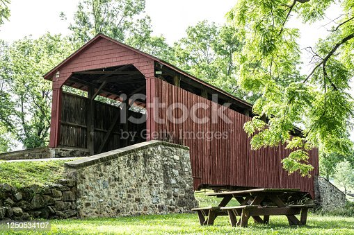 Beautiful Pool Forge Covered Bridge,  Lancaster County,  Pennsylvania