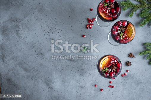 istock Red Cranberry Sangria 1071782300