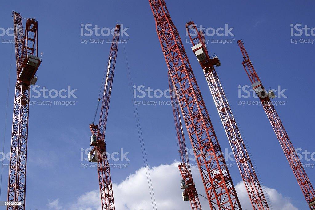 Red crane 2 royalty-free stock photo