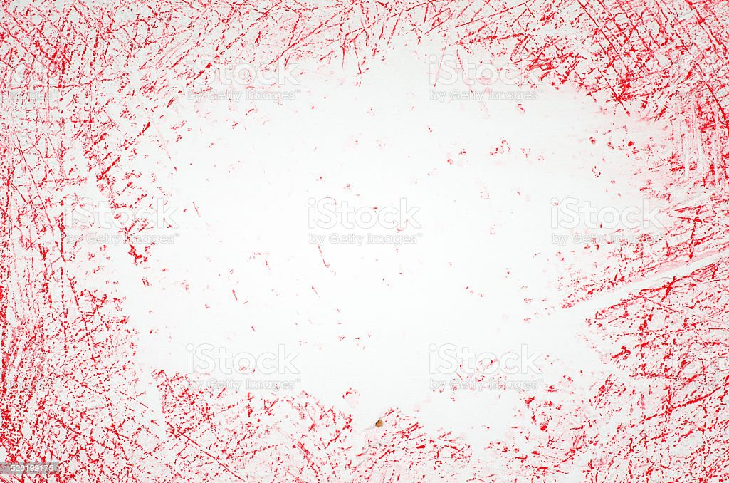 red crayon scribbles stock photo