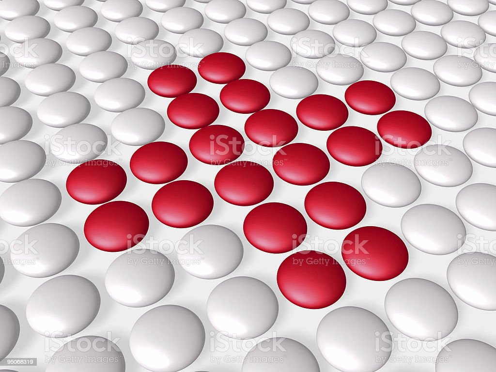 red cross composed of pills royalty-free stock photo