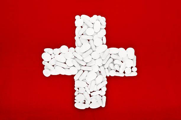 Bandera de la Cruz Roja - foto de stock
