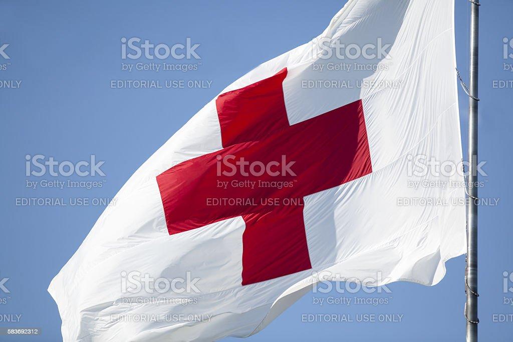 Red Cross Flag - foto de acervo