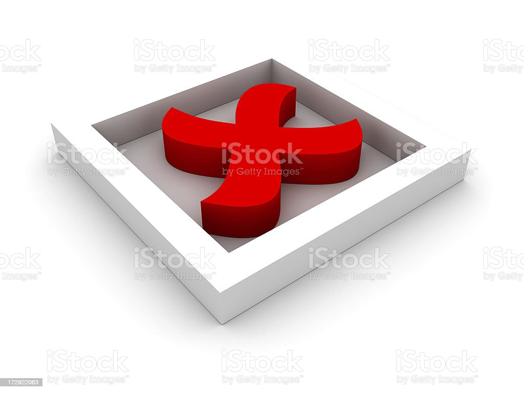 Red cross mark royalty-free stock photo