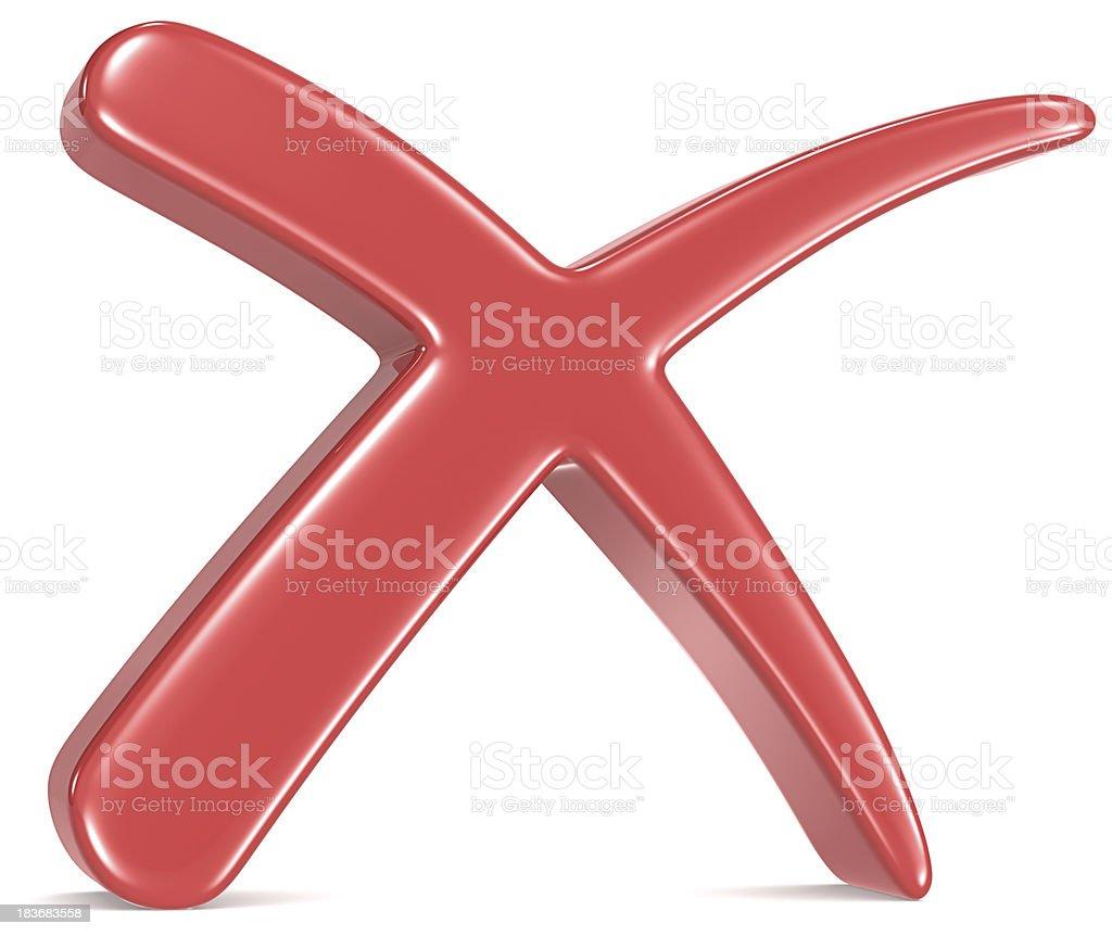 Red Cross Mark. royalty-free stock photo