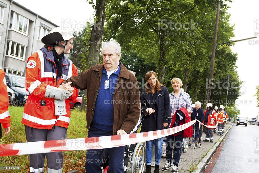 Red Cross operation stock photo