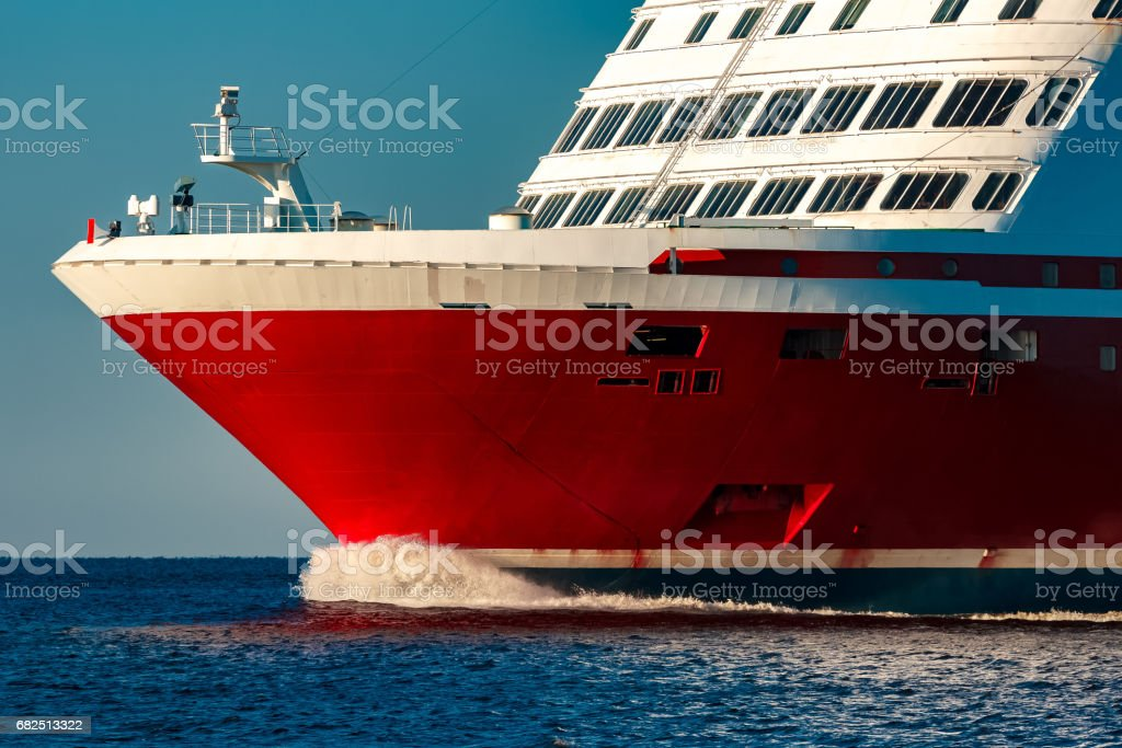 Red cruise liner royalty-free stock photo