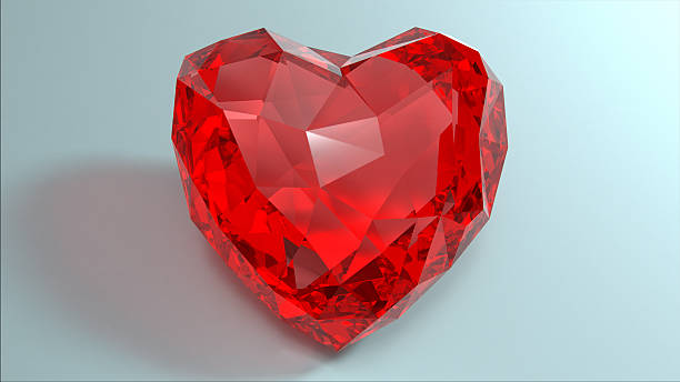 Rote Crystal Herzen für Valentinstag. – Foto