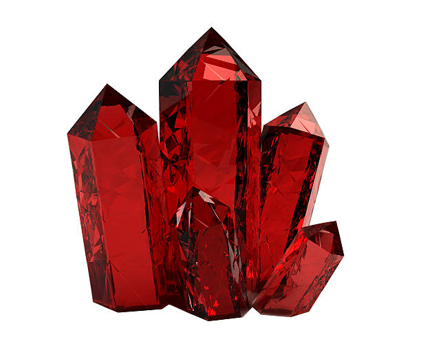 3D red crystals stock photo
