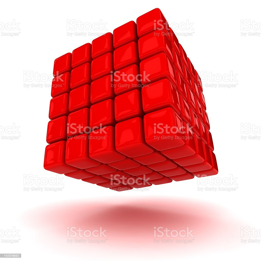 Red cube royalty-free stock photo
