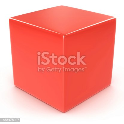 1125351850 istock photo red cube 488478227