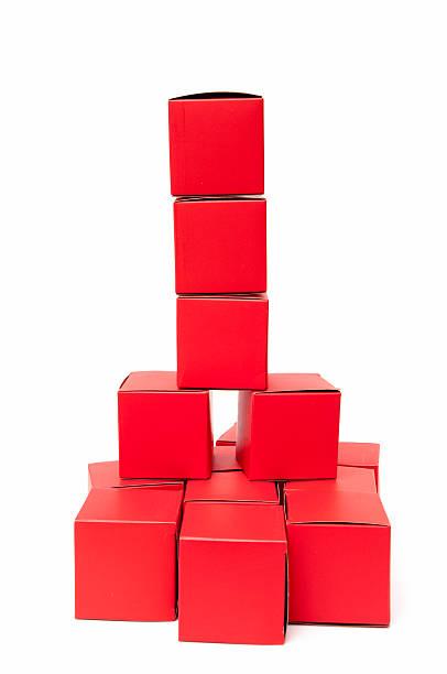 Cubos vermelho - foto de acervo