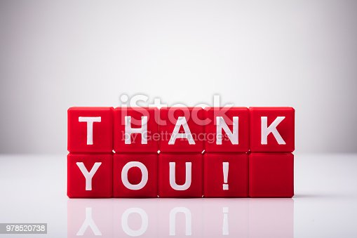 istock Red Cubic Blocks With Thank You Text 978520738