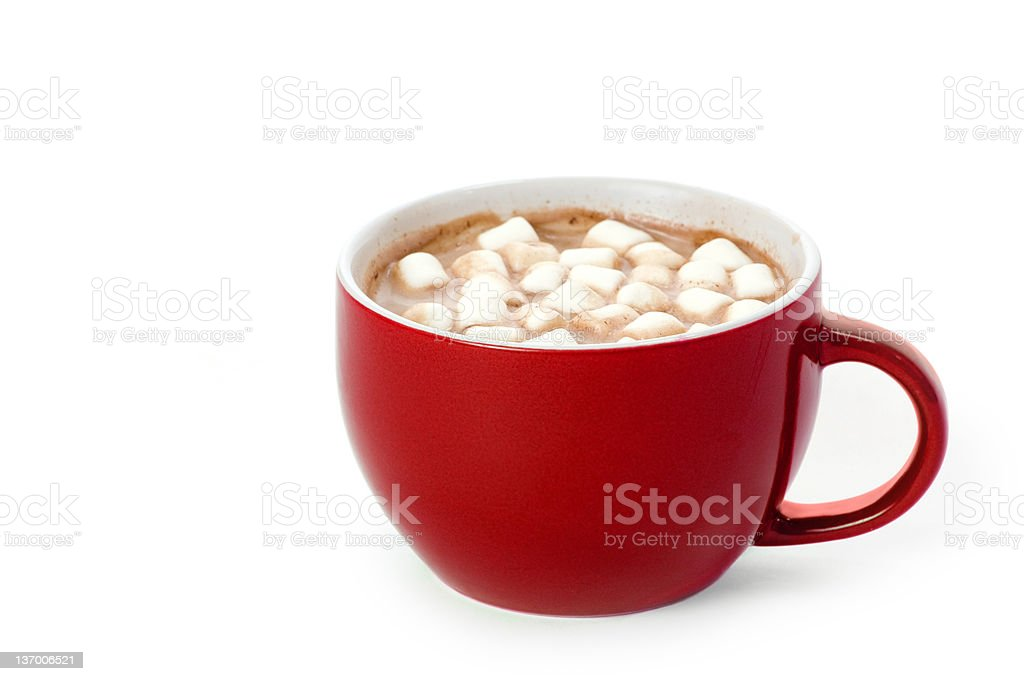 Red Cup of Cocoa stock photo