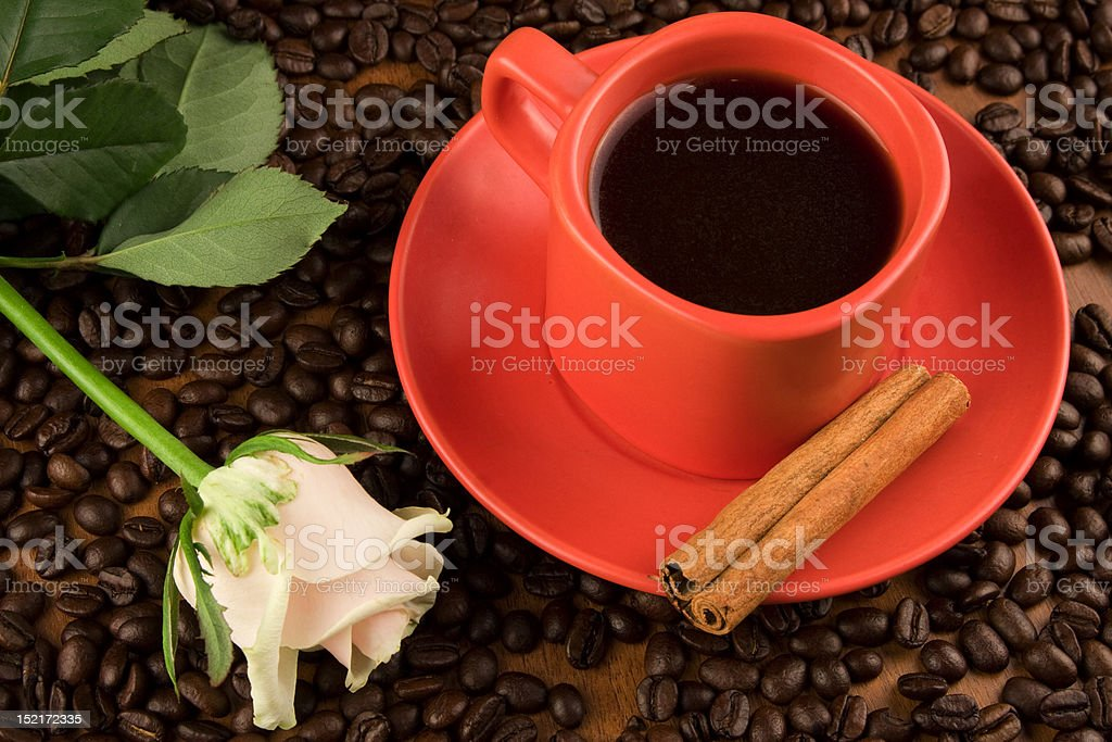 Red cup of coffee royalty-free stock photo