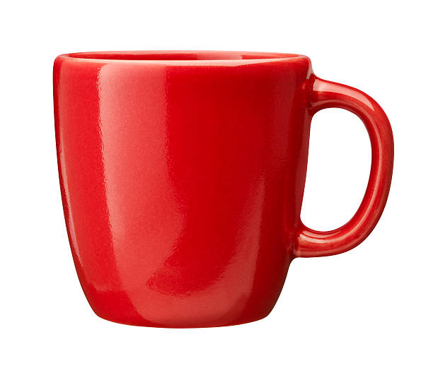 red Cup (clipping path included) stock photo