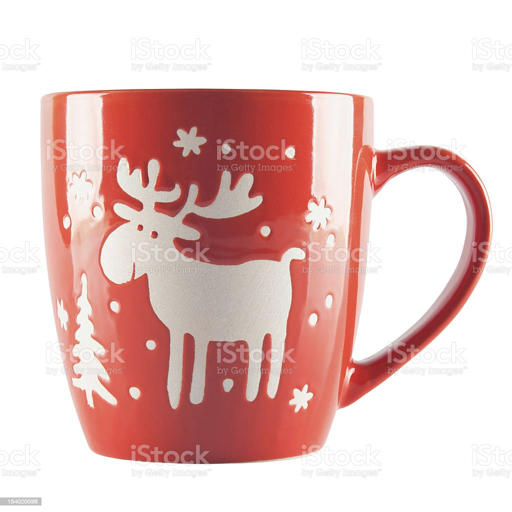 Red cup with ornament royalty-free stock photo