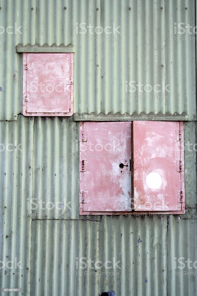 Red cupboards royalty-free stock photo