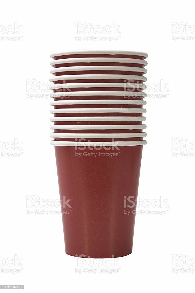 Red Cups royalty-free stock photo