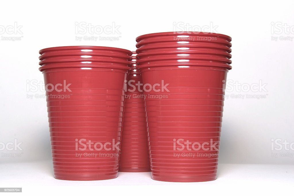 Red cups #3 royalty-free stock photo