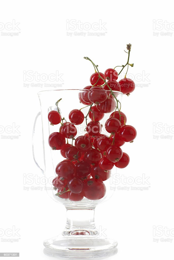 Red currant on glass cup royalty-free stock photo