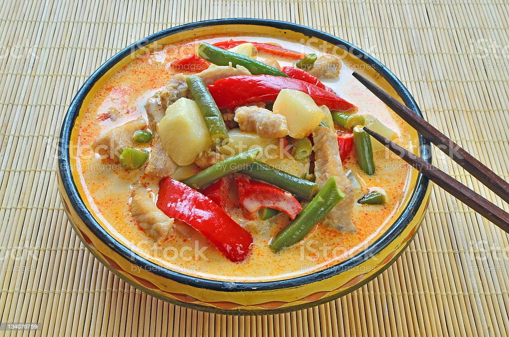 Red curry pork royalty-free stock photo