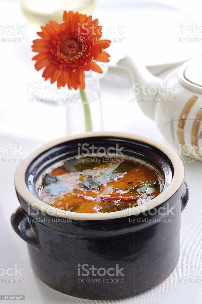 Red Curry Soup royalty-free stock photo