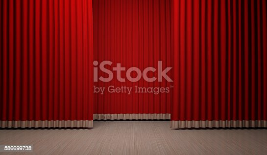 istock Red Curtain background 586699738