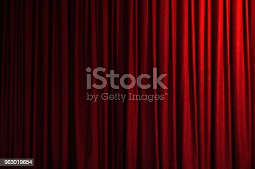 Background of red curtain