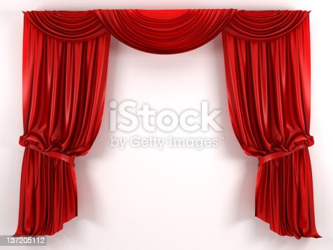 red Curtain, high resolution 3d render
