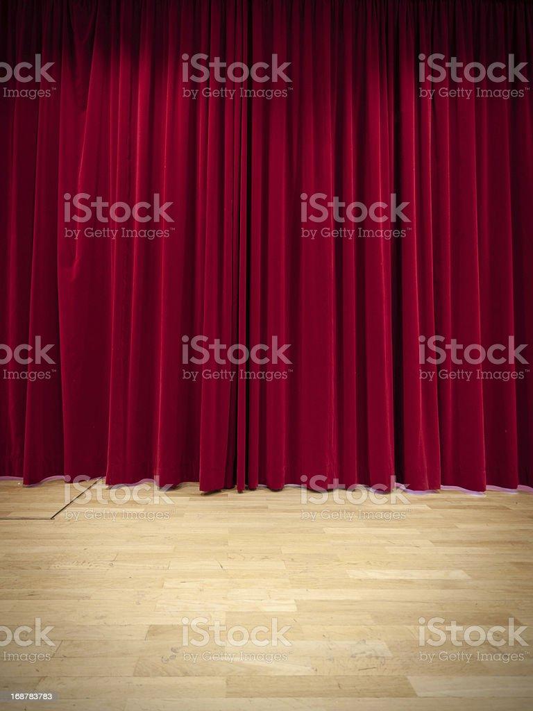 Red Curtain royaltyfri bildbanksbilder