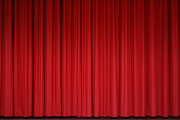 Red Curtain stock photo